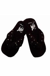 PJ Salvage Black Stud Thong Slippers