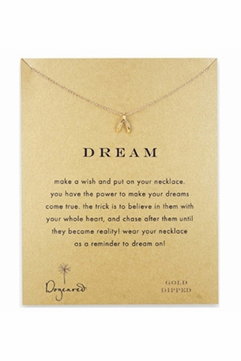 Dogeared Jewelry Dream Gold Necklace
