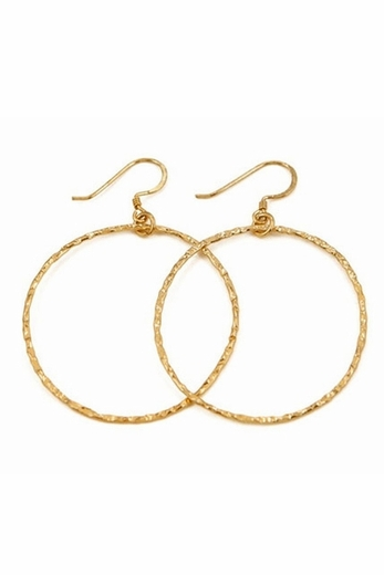 Charlene K Gold Hoop Earrings