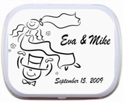 Wedding Favors - Cartoon Bride and Groom Mint Tins