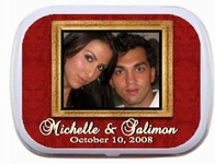 Wedding Mint Tins - Gold Photo Frame (Palm size shown)