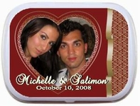 Valentine Wedding Mint Tins - Heart Theme Photo Frame Mint Tins