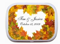 WED_056  Fall Wedding Theme Mint Tin Favors