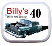 Personalized 40th Birthday Party Favor Mint Tins