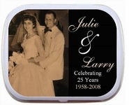 Photo 25th, 40th, 50th, 60th Wedding Anniversary Mint Tins Party Favors