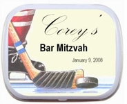 Hockey Theme Bar Mitzvah Mint Tin Party Favor