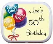 Personalized 50th Birthday Party Favor Mint Tins