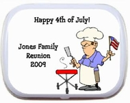 4th Fourth of July Party favors Mint Tins - Family Reunion