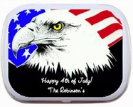 4th of July Party Favors Mint Tins - Eagle
