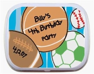 Children's Birthday Mint Tins Party Favors