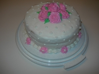 My First Wilton Class Cake Pink Roses Buttercreme Icing
