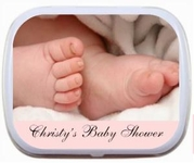 Baby Feet Photo (changeable bottom border)