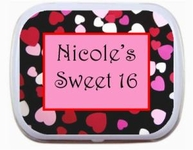 Sweet 16 Mint Tins - Hearts Border