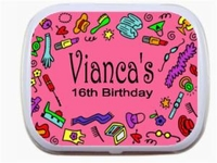 Sweet 16 Mint Tins - Girly Girl Border