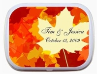 Fall Theme Wedding Favor Mint Tins