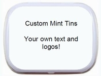 Personalized Custom Altoid (referring to size of tin) and Palm Candy Mint Tin Party Favors - corporate trade show promotional items