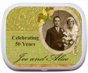 ANN_026  25th 50th Wedding Anniversary Leaf Border Mint Tins