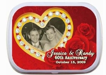 Anniversary Mint Tins - Diamond 60th Anniversary Party Favor Mint Tins