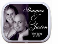 Wedding Favors - Photo Wedding Mint Tins