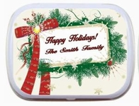 Christmas Party Favor Mint Tins - Message Frame