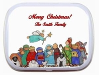 Christmas Party Favor Mint Tins - Nativity