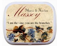 Wine Theme Mint Tins Wedding Mint Tins Party Favors