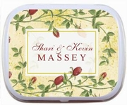 Red Rose Ivy Border Wedding Mint Tins Party Favors
