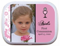 Photo First Communion Mint Tin Party Favor for Girls and Boys Invitations