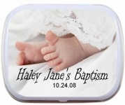 Personalized Mint Tins - Baptism/Christening Baby Feet
