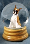 Boxer Dog Snow Globe