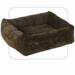 "Bowsers-""Chocolate Bones"" -  Microvelvet Dutchie Dog Bed"