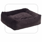 "Bowsers-""Eggplant"" -  Microvelvet Dutchie Dog Bed"