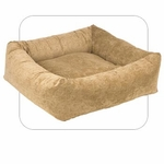 "Bowsers-""Paisley Cedar"" -  Microvelvet Dutchie Dog Bed"