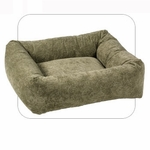 "Bowsers-""Paisley Taupe"" -  Microvelvet Dutchie Dog Bed"