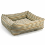 "Bowsers-""Seaside Stripe"" -  Microvelvet Dutchie Dog Bed"