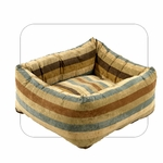 "Bowsers-""Sierra Stripe"" -  Microvelvet Dutchie Dog Bed"