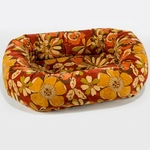 Bowsers Microvelvet Donut Dog Bed-Calypso