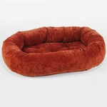 Bowsers Microvelvet Donut Dog Bed-Cherry Bones