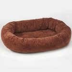 Bowsers Microvelvet Donut Dog Bed-Paisley Chili Pepper