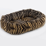 Bowsers Microvelvet Donut Dog Bed-Safari