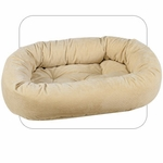 Bowsers Microvelvet Donut Dog Bed-Vanilla Treats