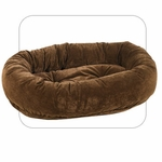 Bowsers Microvelvet Donut Dog Bed-Walnut