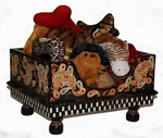 "Perfectly Paisley Dog Toy Box - As seen in ""JEZEBEL"" Magazine Nov-Dec 2010 Addition!"