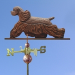 Am. Cocker Spaniel Weathervane-Brown