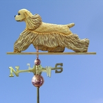 Am. Cocker Spaniel Weathervane-Buff