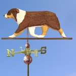 Australian Shepherd Weathervane-Red Tri
