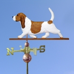 Basset Hound Weathervane-Red/White