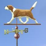 Beagle Weathervane-Red/White