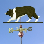 Border Collie Weathervane-Black