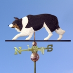 Border Collie Weathervane-Black Tri